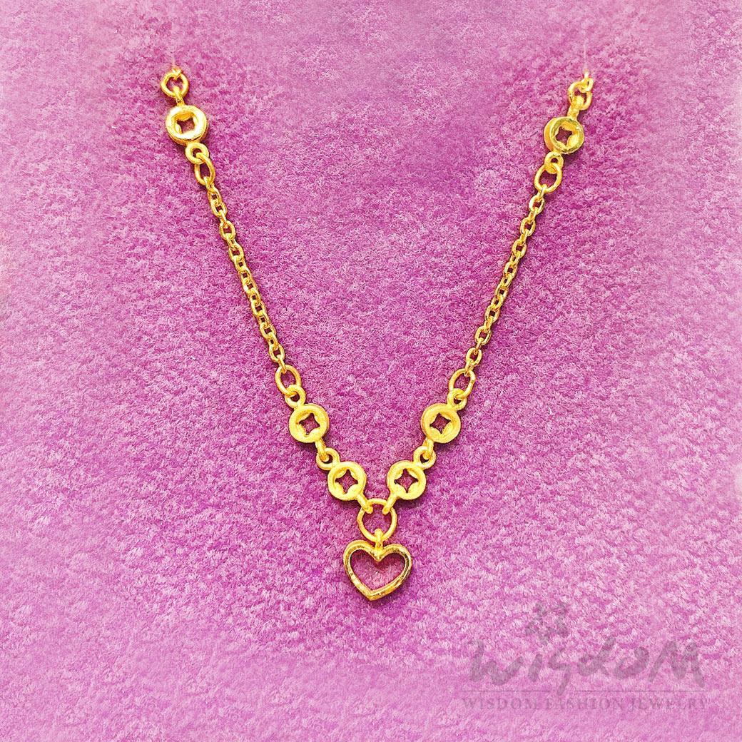 威世登 黃金心型手鍊 金重約1.04~1.06錢 GC00637-ABXX-FIX