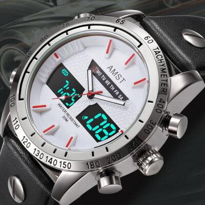 美琪 (簡約時尚)새로운新款防水男休閒腕錶電子錶전자 시계