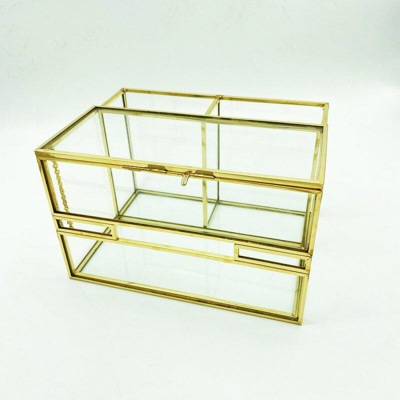 北歐風玻璃紙巾收納盒 玻璃抽紙盒創意簡約桌面紙巾盒家用收納盒