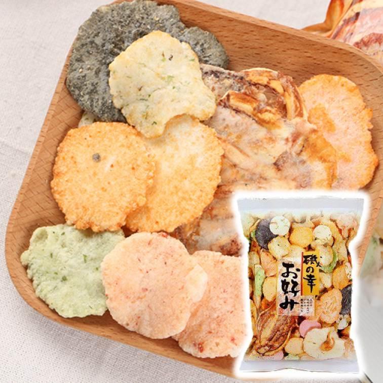 磯之幸綜合海鮮脆餅 130g イケダヤ製菓 磯の幸 お好み