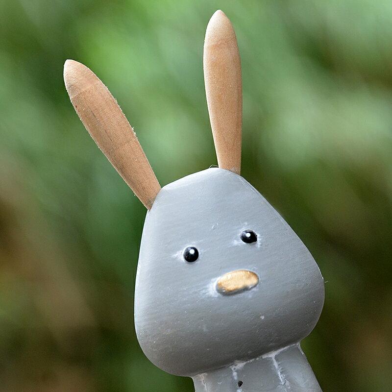 北歐極簡兔子動物小擺件田園裝飾品電視柜兒童房生日禮物可愛兔子1入