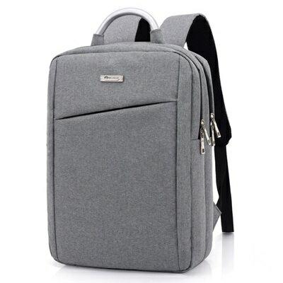 後背包純色電腦包-時尚休閒百搭多功能男女雙肩包3色73ru10【獨家進口】【米蘭精品】