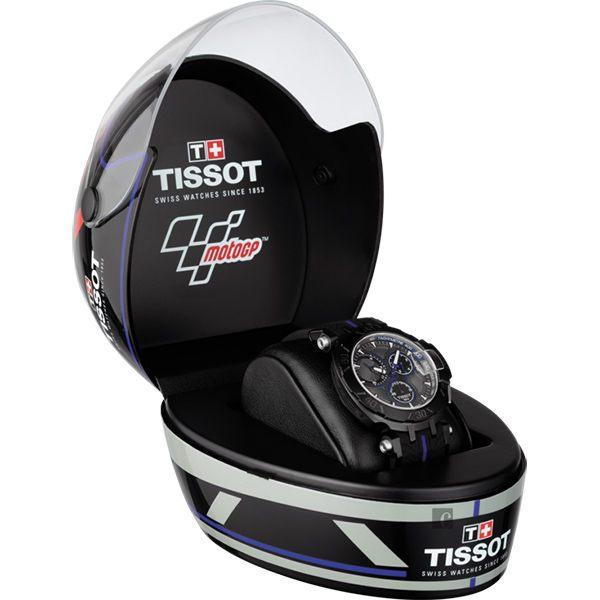 全球限量5000只 TISSOT 天梭 T-RACE MOTOGP 2017限量版賽車錶-黑x藍 / 45mm T0924173706100 9