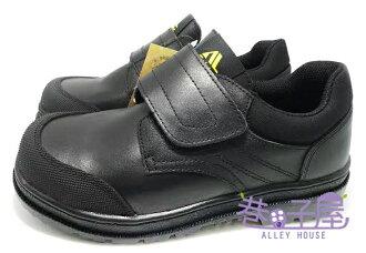 【巷子屋】SOLETEC鐵客 男款魔鬼氈真皮超鐵氣墊防穿刺鋼頭安全鞋 H級 [1010] 黑 台灣製造 超值價$890