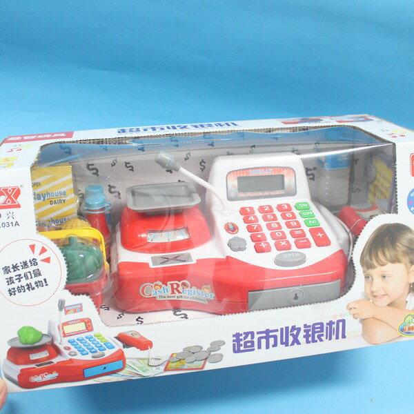 坤興超市音效收銀機 NO.031A 大型電動收銀機玩具(附電池) / 一盒入 { 促650 } ~大生(T2654) 0