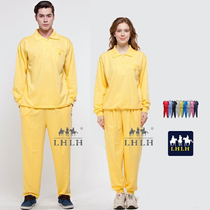 黃色套裝 素面 廟會服進香服 長袖 Polo領