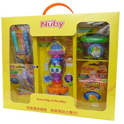 【悅兒樂婦幼用品舘】Nuby 快樂寶貝禮盒 0