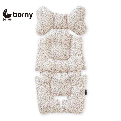 韓國【 Borny 】 全身包覆墊(推車、汽座、搖椅適用)(奶油白) - 限時優惠好康折扣