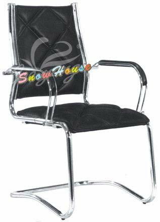 ╭☆雪之屋居家生活館☆╯R205-03 CK-002C格紋洽談椅/辦公椅/會議椅(黑皮/格紋)