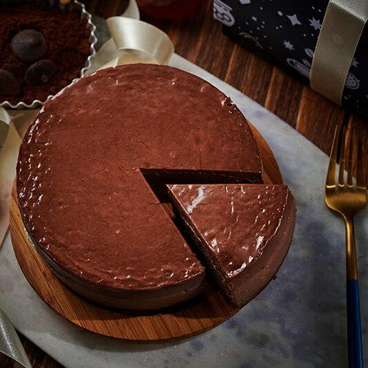 暫停接單-可可控注意~巧克力起司蛋糕 乳酪蛋糕 團購美食 下午茶 巧克力控  6吋 藍白小鎮