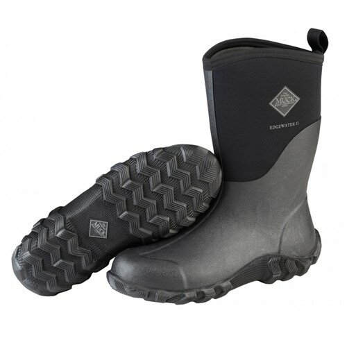 b7fa4ab5c71 Muck Boots Black Men's Edgewater 2 Mid Boot w/ Airmesh Lining - Size 10