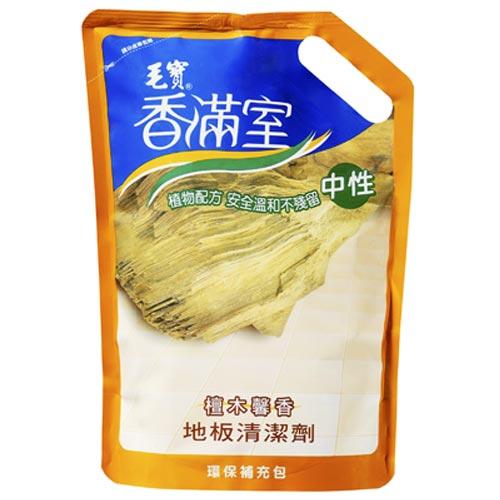 香滿室中性地板清潔劑檀木馨香補充包1800g