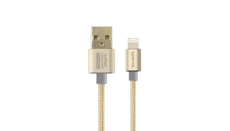 樂點 ~laclick 2.5A鋁合金充電傳輸線^(iOS^)~金 VPC~86~2
