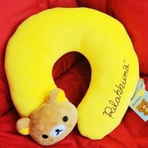 美麗大街【S105120814】拉拉熊U型枕 頸枕靠枕
