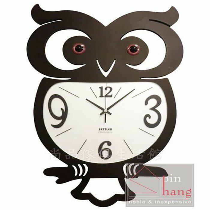 【尚品傢俱】807-39 智慧博士 鍛鐵時鐘/鑄鐵時鐘/鳥類造型時鐘/貓頭鷹掛鐘