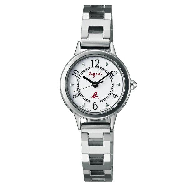 agnes b V117-0CS0S(BU9017P1)精巧時尚腕錶/白面24mm