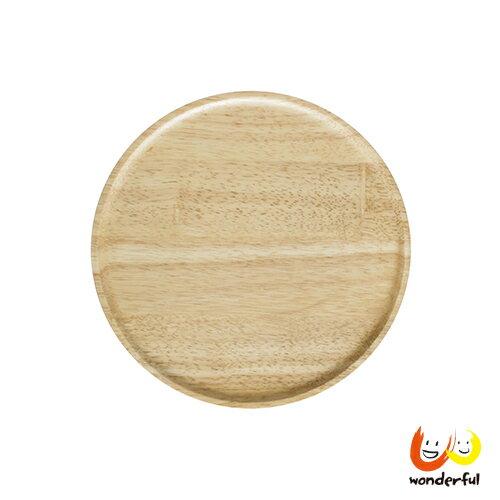 ACACIA 圓形木製餐盤原木色(中)