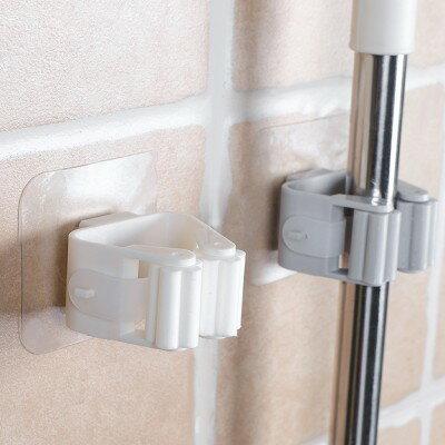 防水免打孔拖把掛架 無痕 透明吸盤 衛生間 拖把架 掃把架 浴室 強力 掃把收納架 強力 黏膠 免釘 ♚MY COLOR♚【P090】