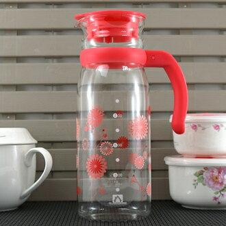【珍昕】 GLASSHOUSE耐熱玻璃冷水壺~2色/綠.紅(1215ml)