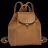 LONGCHAMP Le Pliage Cuir 女士系列粉红色羊皮超小號雙肩包 L1306737018 3