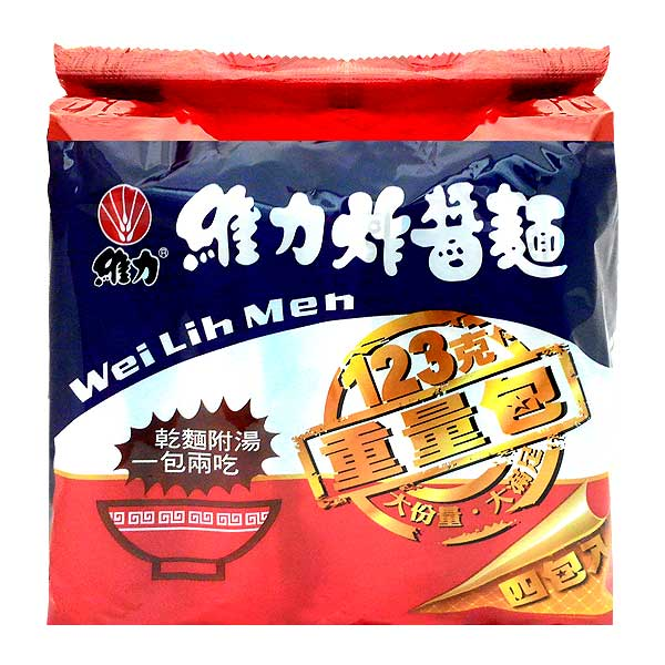 維力炸醬麵重量包123g(4入)x6袋/箱【康鄰超市】