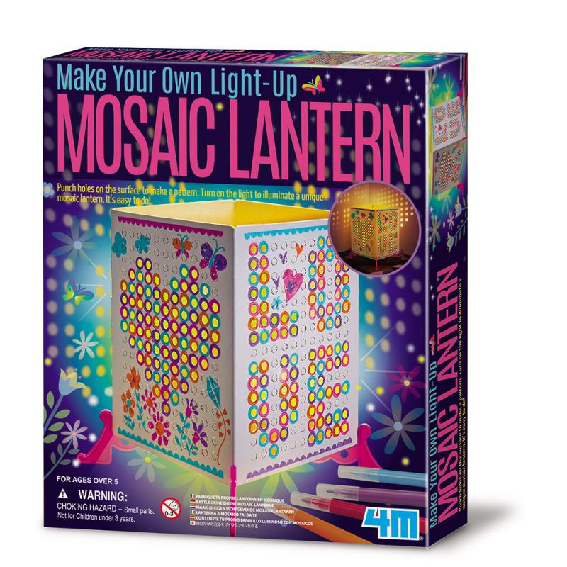 【4M】美勞創作系列-創意馬賽克燈籠 Mosaic Lantern 00-04618