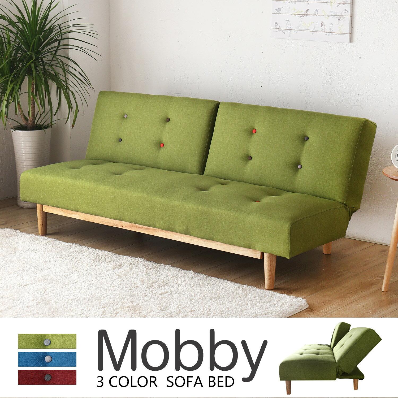 Mobby莫比日式北歐木作機能沙發床 / 3色 / H&D 4