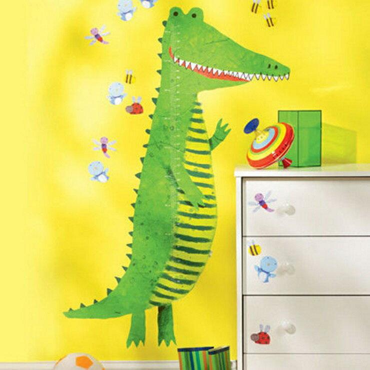 【寶貝樂園】美國Wallies創意輕鬆貼? 寶貝身高尺微笑鱷魚