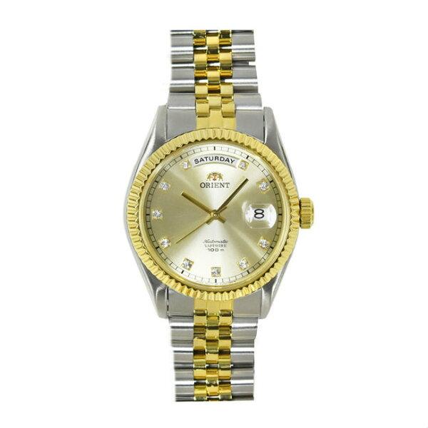 ORIENT東方錶WILDCALENDAR系列(SEV0J002C)蠔式型機械錶鋼帶款金色36.5mm