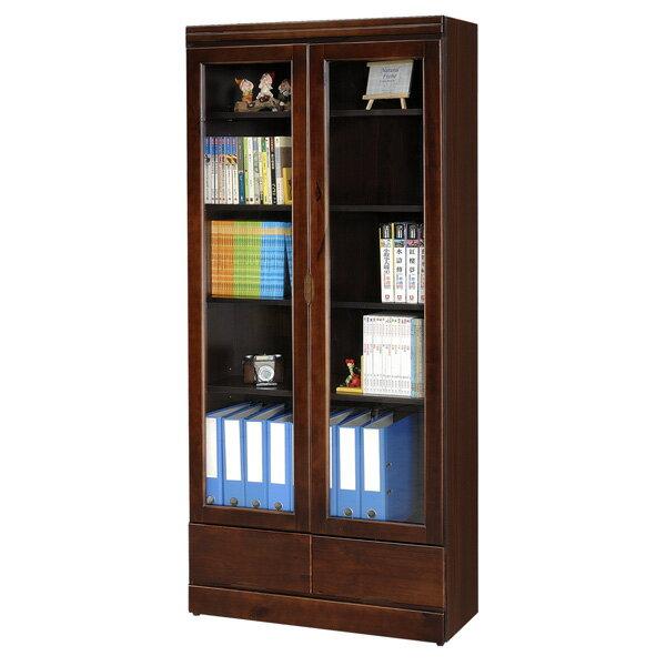 書櫃 有門書櫃 大型書櫃 收納櫃 櫥櫃 展示櫃 置物櫃 收納櫃《Yostyle》歐文胡桃下抽書櫃
