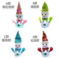 幫家裡聖誕佈置裝飾推薦聖誕裝飾及吊飾到粉彩聖誕帽Q雪人擺飾(四款顏色可選/內含LED燈可發光)YS-CTD016003就在摩達客推薦幫家裡聖誕佈置裝飾