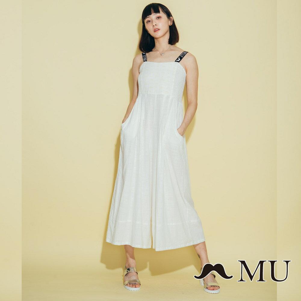 【MU】超美織帶連身寬褲洋裝 8327163 0