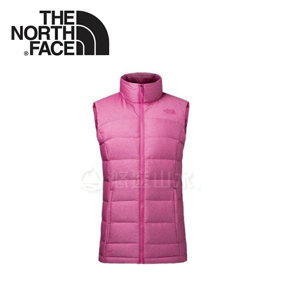 【The North Face 女款 700fP 羽絨背心《粉》】3651BA0/保暖背心/內搭背心
