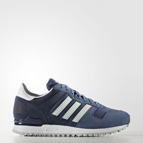 ADIDAS Original ZX 700 女鞋 慢跑 休閒 麂皮 藍 深藍 【運動世界】 S79799