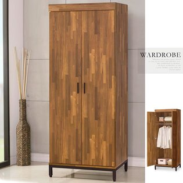 優世代居家生活館:衣櫃衣櫥工業風收納櫃衣物收納置物櫃《Yostyle》洛基工業風單吊衣櫃