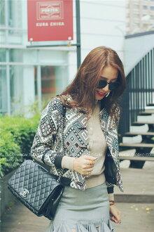 韓劇裡的氣質小外套 帶點異域風情的提花 獨顯女人品味 民俗風-Lucky洋M