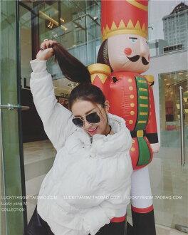 匹諾曹韓國樸信惠同款中款棉衣女外套大碼棉服大衣加厚-Lucky洋M