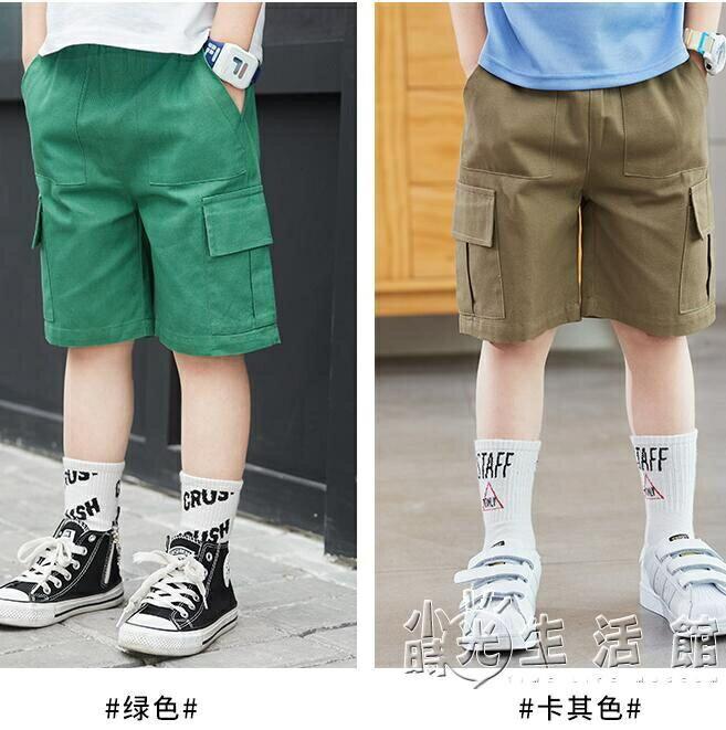 童裝男童短褲2021新款兒童夏季薄款五分工裝褲中大童中褲外穿韓版
