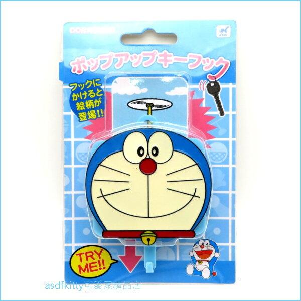 asdfkitty可愛家☆哆啦A夢大臉造型掛勾-耐重3KG-日本正版商品