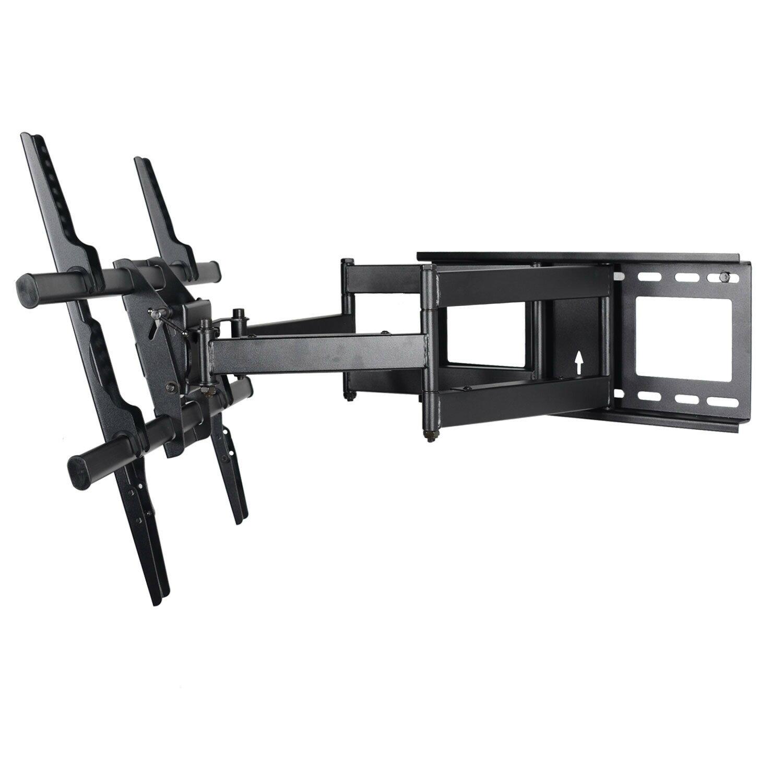 VideoSecu Articulating Dual Arm Full Motion Swivel Tilt TV Wall Mount  Bracket for VIZIO 40 42 47 50 55 60 65 70 inch LCD LED Plasma 3D HDTV &  Free