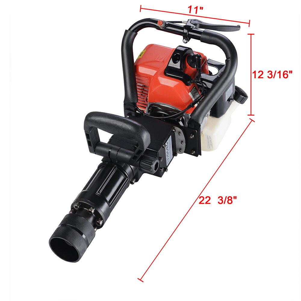 2in1 32.7cc Gasoline Demolition Jack Hammer Pile Piling Driver Chisel 2 Stroke w/ EPA Certification 8