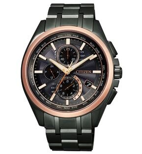 CITIZEN星辰AT8046-51E新世代電波商務光動能腕錶黑+玫瑰金42mm