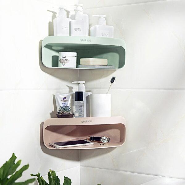 浴室收納三角置物架浴室牆角廁所免打孔置物架單售