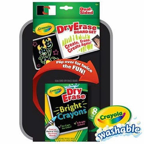 【限量買1送1】繪兒樂Crayola 可水洗雙面板蠟筆套裝【悅兒園婦幼生活館】