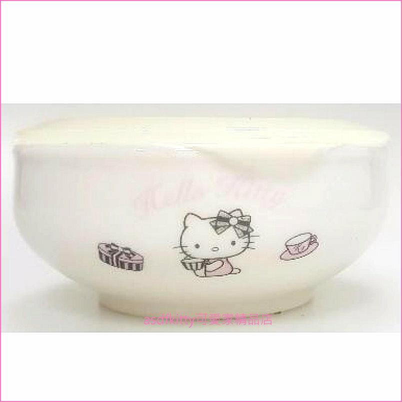 asdfkitty可愛家☆KITTY陶瓷保鮮碗-小-保鮮盒/便當盒-可微波-韓國製