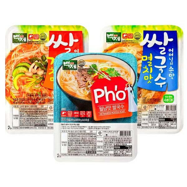 韓國 百濟米麵線(1入) 款式可選【小三美日】◢D081819