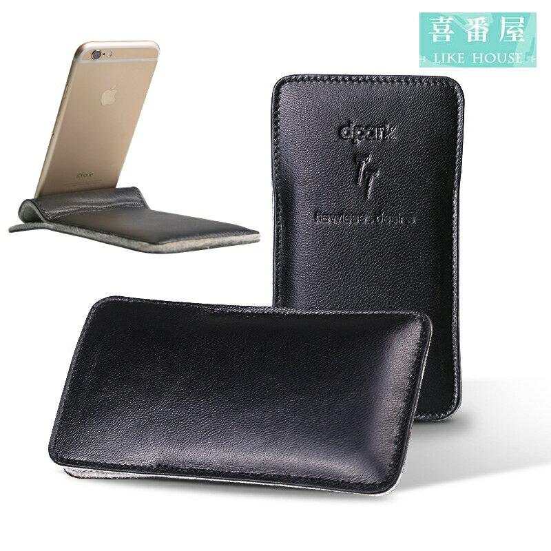 【喜番屋】日韓版真皮柔軟羊皮IPHONE6三星SONY4.7吋5.5吋手機皮套手機套手機包男夾女夾禮物CPB07