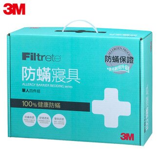 【3M】淨呼吸防蹣寢具-單人四件組