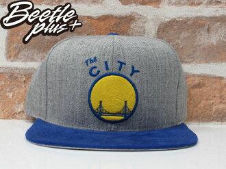 MITCHELL&NESS NBA WARRIORS 金州 勇士 CURRY 灰藍黃 麂皮 SNAPBACK 帽 總冠軍