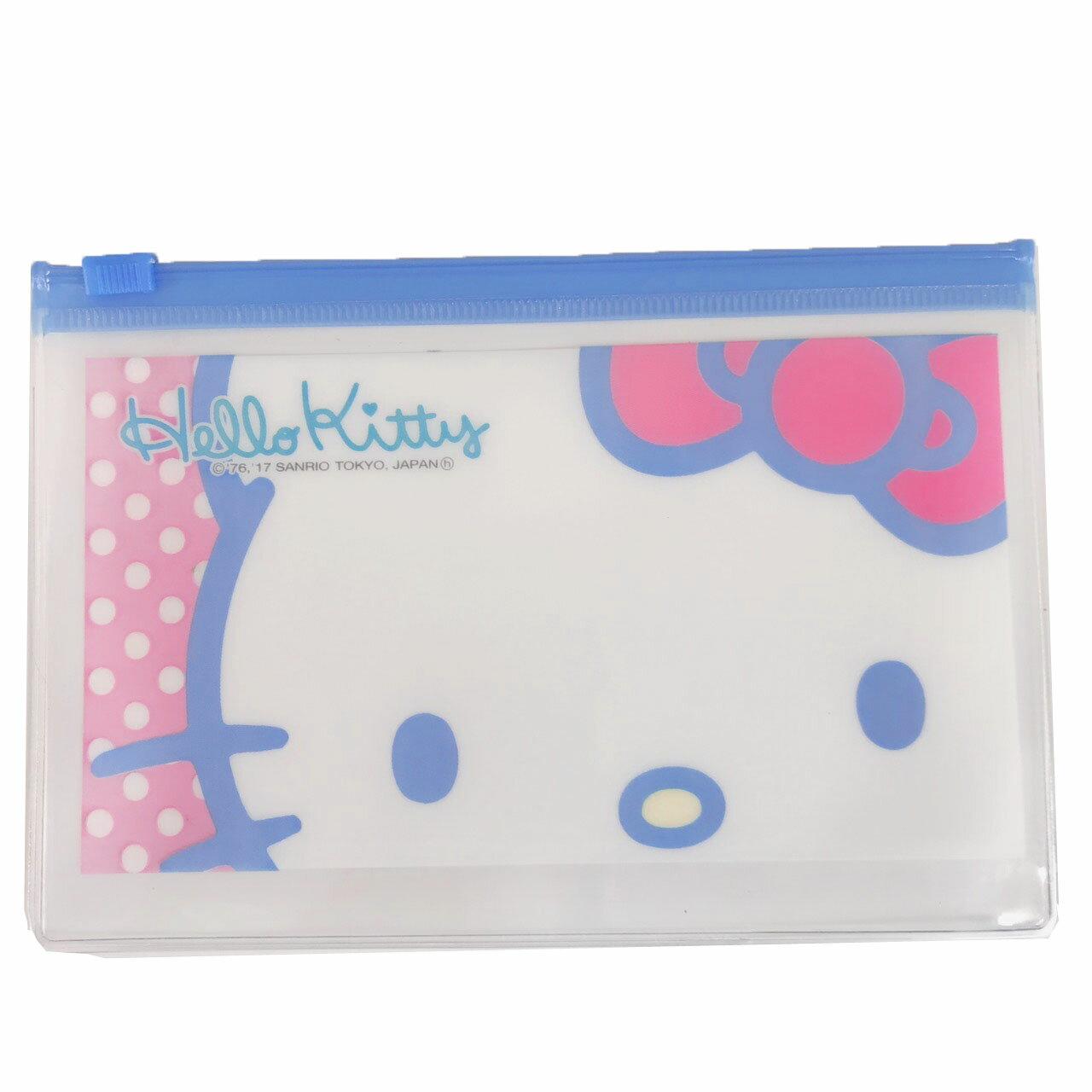 【真愛日本】17122300047 專賣店夾鏈袋-KT臉點點 三麗鷗 kitty 凱蒂貓 夾鏈袋 發票收納袋